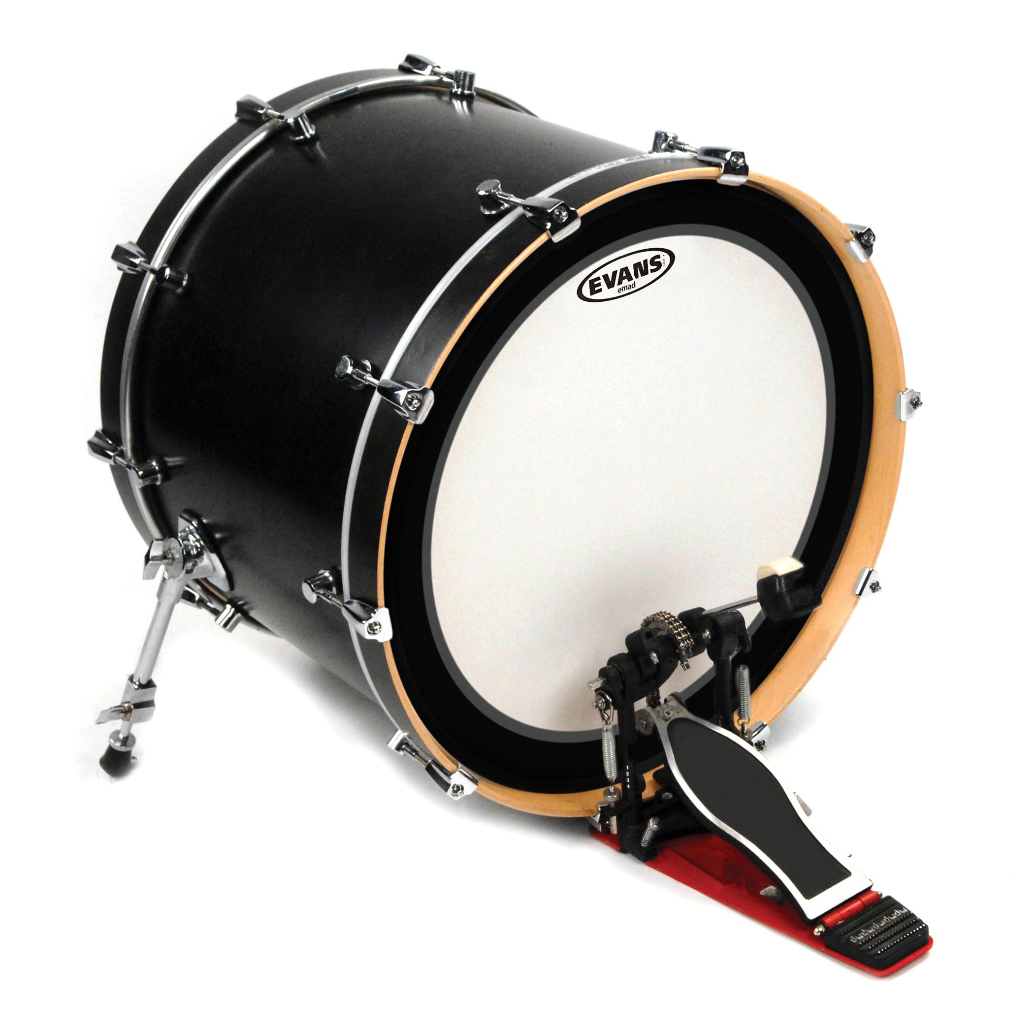 evans emad coated white bass drum head 18 just drums. Black Bedroom Furniture Sets. Home Design Ideas